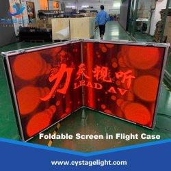 Schermo della cabina del DJ della visualizzazione di parete della fase portatile pieghevole di P3.91mm LED video