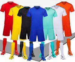 De in het groot Eenvormige Slijtage van het Team van het Overhemd van de Voetbal van Jersey van het Voetbal van de Kwaliteit van de Ontwerpen van de Sublimatie van China Recentste Thaise Goedkope Lege