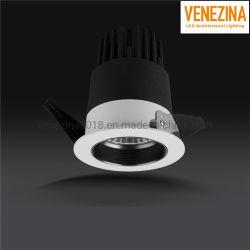 De taille moyenne et antireflet Downlight encastré Fliker-Free COB LED de type 15W/20W/25W