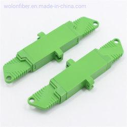 플랜지 녹색 E2000 APC 10g 단순한 플라스틱 광섬유 접합기를 가진 짝지어주는 소매