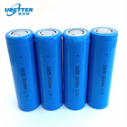 Batería recargable 22650 Celda de 3,7V 3000mAh para móvil, portátil, un amplificador de potencia