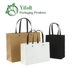 Mayorista de la fábrica de papel portátil moda bolsa de regalo, Papel Kraft Bolsas de regalos personalizados, bolsa de papel Kraft
