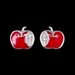 La moda de epoxi Zirconia cúbica forma parte de Apple pendientes con joyas de plata esterlina