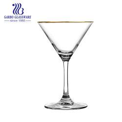180ml high end elegante cocktail de cristal de vidro Caliciformes Stemware GB082807-MJ