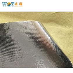 Nouveau tissu en fibre de verre résistant au feu de l'aramide chiffon avec de transférer en aluminium