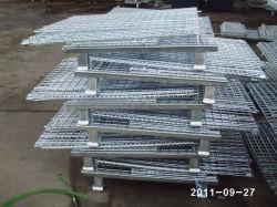 Stoccaggio smontabile industriale impilamento filo metallico rete pieghevole stillage in acciaio Casse