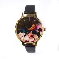 Japan Movt Edelstahl-Rückendesign Schmuck Quarz Movt Uhr (cm19028)