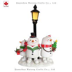昇進の樹脂はクリスマスのスノーマンランプのホーム休日の装飾を制作する