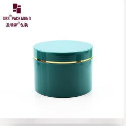 Luxuxglas-Verpacken des neues Produkt-grüne Farben-runde Form-leeres Plastik400ml
