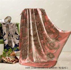 L'impression numérique de 100% soie 90*90 foulard en soie carré