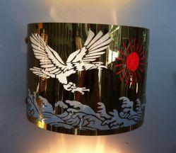 Mesa de Grabado personalizado Arte Lampshade aparato doméstico.