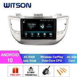 Witson Octa-Core Android Market 10 aluguer de DVD para a Hyundai 2015 Tucson/IX35 construído em 64GB Flash 4 GB de RAM Módulo WiFi