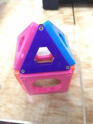 맞춤형 24PCS 클래식 마그네틱 빌딩 블록 Creative Construction Toy Safe ABS 플라스틱 빌딩 블록 장난감 어린이