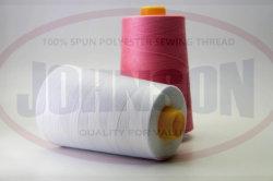 Venda por grosso de rosca de tecelagem 40/2 5000yds 100% poliéster bonderizado para máquinas de costura