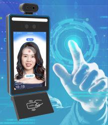 8 pouces LCD Tableau debout Android Recoginition Ad Player avec le visage et de la caméra IR capteur de température du corps
