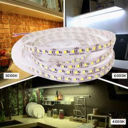 Indicatore luminoso di striscia flessibile bianco di CC LED del TDC 3000K 4000K 6000K 24V 12V per l'Sotto-Armadietto