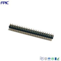 Connettore a spina tonda ODM personalizzato a doppia fila con passo da 2,54 mm e 25 pin Terminali rotondi