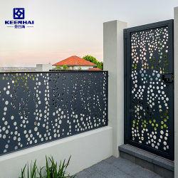 L'extérieur décoratifs en aluminium découpées au laser la clôture de la porte du panneau