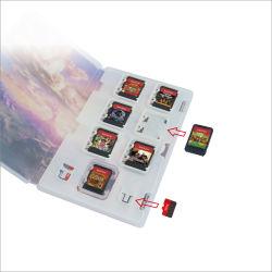 cartão de memória de expansão da caixa de plástico do slot do cartão de jogos para a Nintendo Cards do interruptor