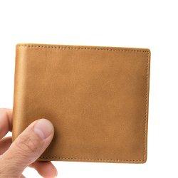 Vintage роскоши и без излишеств с логотипом технологии RFID короткое замыкание обложка из натуральной кожи мужчин кошельки