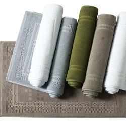 Stuoia bianca 100% di /Bath del tovagliolo del pavimento del Terry del jacquard del cotone