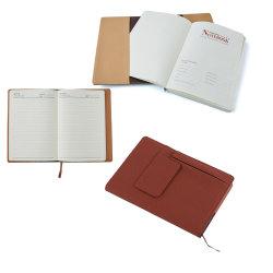Diário de couro do plutônio da capa dura do caderno dos artigos de papelaria A4 A5 com bolso dianteiro