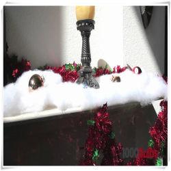 Retardante de llama Feliz Navidad nieve pelusas Decoración