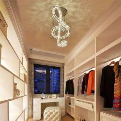 Luci da soffitto in cristallo Music Lampshade per illuminazione domestica interna Dispositivi di fissaggio (WH-CA-50)
