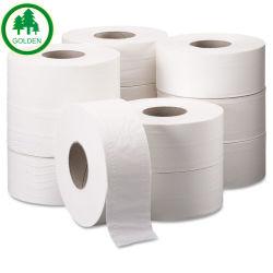 Tessuto 100% di stanza da bagno molle della carta igienica della pasta di cellulosa del Virgin del commercio all'ingrosso 3-Ply