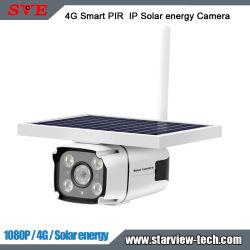 2MP 1080p HD 4G 무선 스마트 PIR 실외 유도 배터리 Powerd IP Solar 실외용 방수 IP67 보안 카메라(SIM 포함 카드
