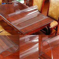 2mm Rouleau rideau transparent en PVC de couleur claire Feuille en PVC souple pour la table de chiffon ou de l'emballage