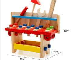 도매 새 교육용 장난감 목재 워크벤치 어린이 도구 세트