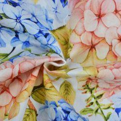 L'impression numérique satin de coton sergé tissu tissé pour les femmes chemisier