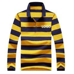 Los hombres de la banda de OEM cosidos de manga larga polo de Rugby Deportes 100% algodón