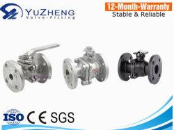 Pn16 플랜지 엔드의 스테인리스 스틸 2PC 볼 밸브
