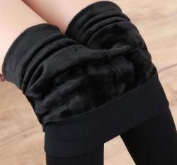 Moda Mujer caliente pantalones Skinny de estiramiento de lana gruesa