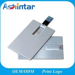 USB3.0 스틱 알루미늄 소재 신용 카드 USB 플래시 드라이브 메탈 USB 플래시 메모리