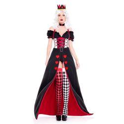 O Dia das Bruxas a lingerie sexy mascote trajes Adulto Fantasias Festa de Carnaval de alimentação do coração vermelho Princess roupa de cama Queen