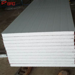 컬러 스틸 폼 월 지붕 PU/EPS/폴리스티렌 샌드위치 천장/파티션/벽면 패널 재료
