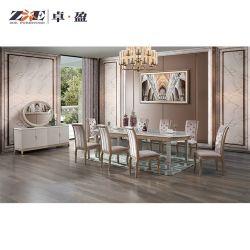 Meubles en bois solide ensemble de la sculpture moderne de luxe Meubles de salle à manger