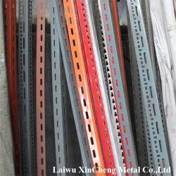 Leichter DIY Typ Lager gekerbter Winkel-Stahl legt Regal beiseite