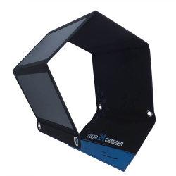 Find24 USB solare portatile della carica 5V del telefono mobile del caricatore 24watt per il funzionamento di campeggio d'escursione esterno