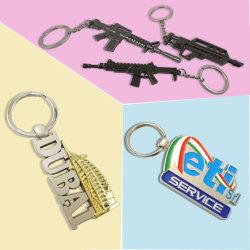 Fördernde Andenken-Großhandelsdekoration passte kundenspezifisches Firmenzeichen-Goldmetall personifizierte Ring-Schlüsselkette des Zink-Legierungs-2D buntes Decklack-3D für Förderung-Geschenke an
