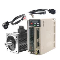 3phase 1kw 220V 1000rpm 130mm 10nm ACサーボモーターおよびドライバーのCNCのサーボモーター、切断のマッハのためのDCのサーボモーター