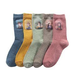 Hochwertige Damen Print Logo Niedlich Japanische Mode Freizeit Socken Neuheit Crew Socken Süße Fun Socken
