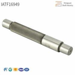 Tratamiento térmico de alta precisión de 19,5X140 intervino Strainght moleteado Eje de acero del rotor del motor