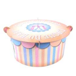 Precio barato de 3 niveles de impresión parte soporte tarta de cumpleaños doblado decorado pastel de boda personalizado