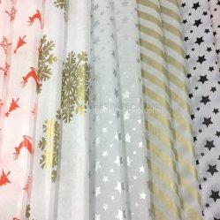 맞춤형 패턴 홀리데이 웨딩 선물 포장 크래프트 포장 조직 종이