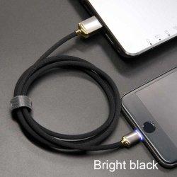 2.1A 1m светодиодный индикатор быстро кабель для зарядки нейлоновые экранирующая оплетка кабеля USB для iPhone кабель от воздействий молнии