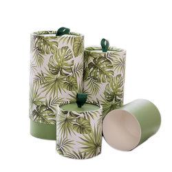 Цилиндрический жесткой картонной упаковке хранения подарков бумаги